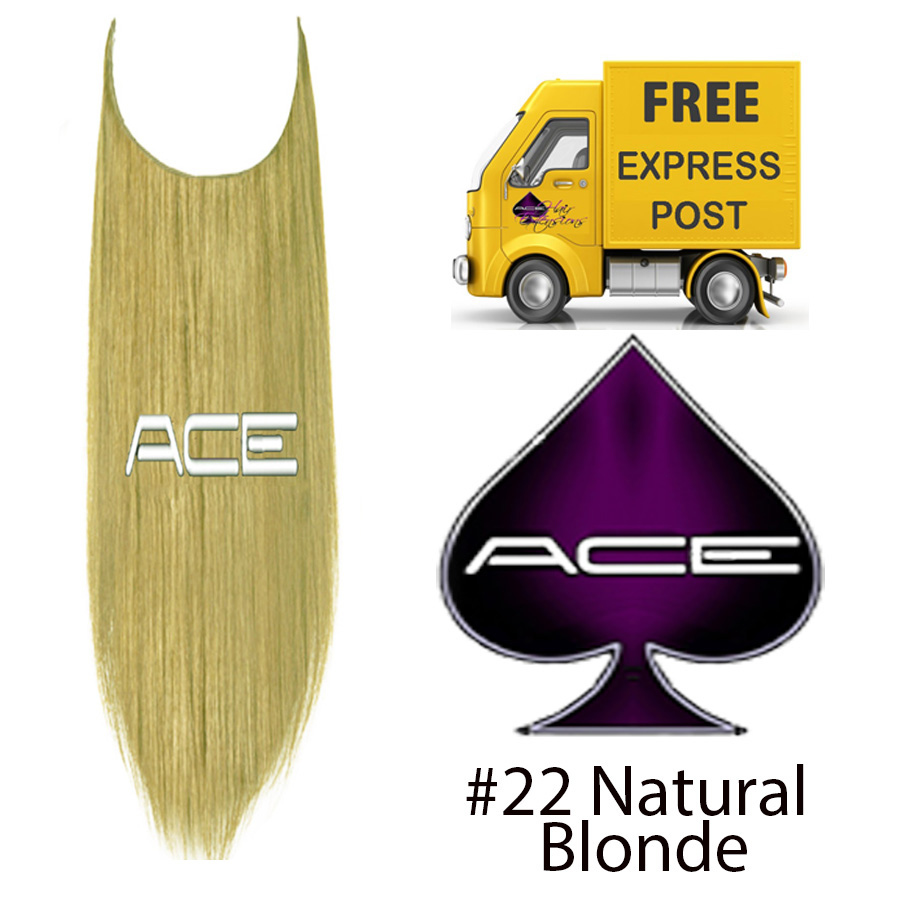 Halo 20″ #22 Natural Blonde 100 grams Delivered Free Tomorrow if ordered by 4pm Mon-Thurs Auspost Express Zone