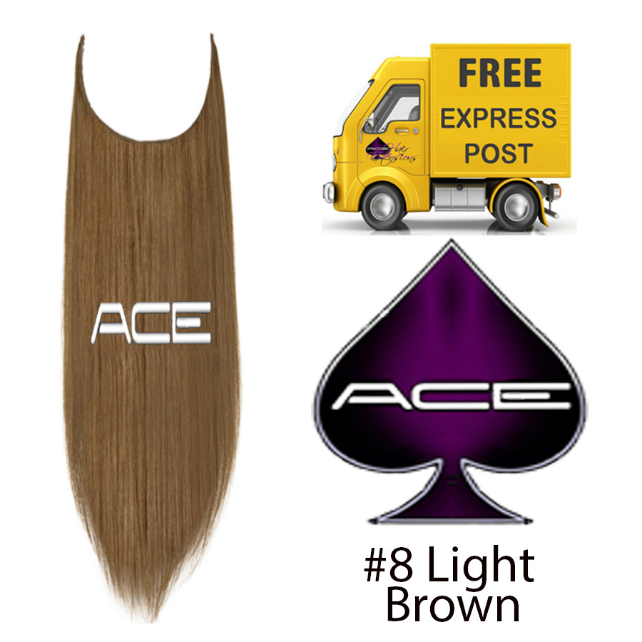 Halo 20″ #8 Light brown 100 grams Delivered Free Tomorrow if ordered by 2pm Mon-Thurs Auspost Express Zone