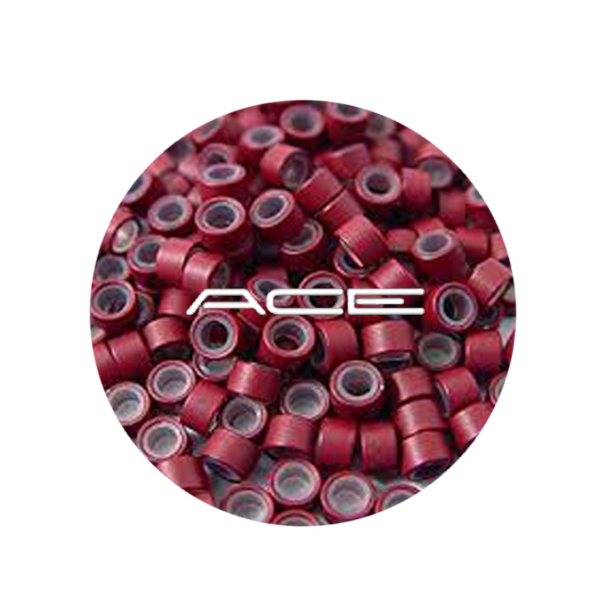 Micro Beads Burgundy Silicon lined 5mm  x 1,000