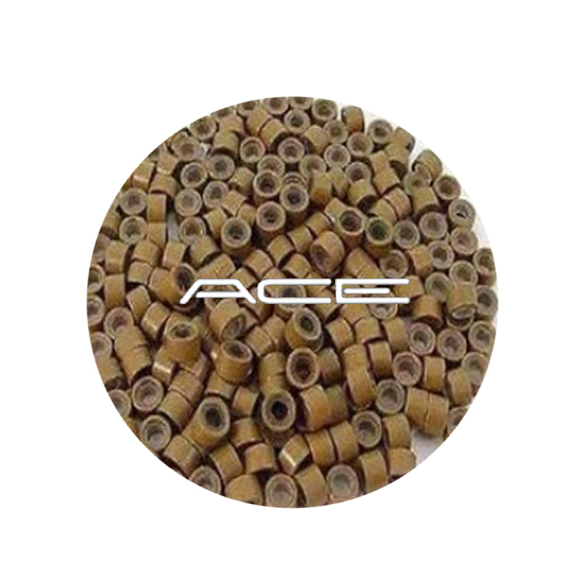 Micro Beads Dark Blonde Silicon lined 5mm  x 1,000