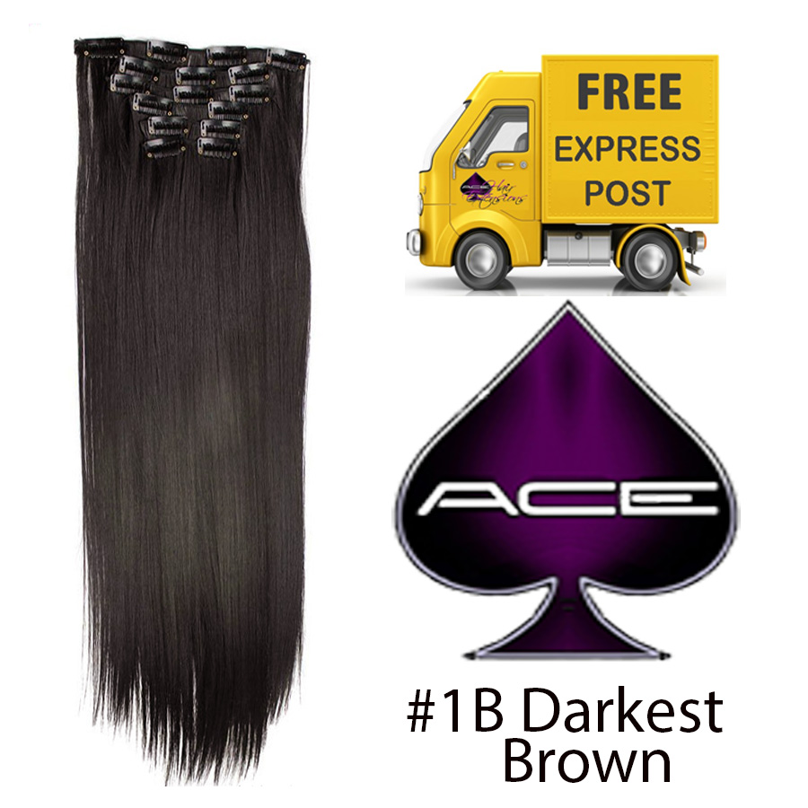 Clip in 20″ #1B Off Black 100 gram  Delivered Free Tomorrow if ordered by 2pm Mon-Thurs Auspost Express Zone