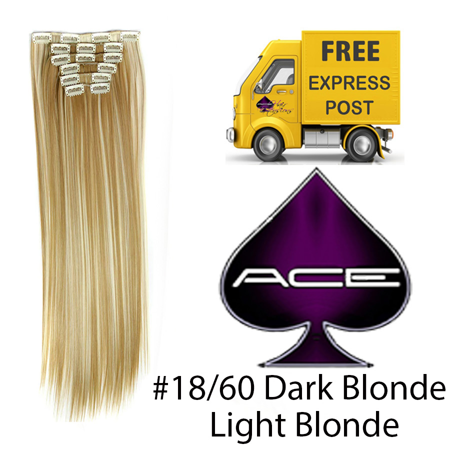 Clip in 20″ #18/60 Dark and Light Blonde 100 gram  Delivered Free Tomorrow if ordered by 2pm Mon-Thurs Auspost Express Zone