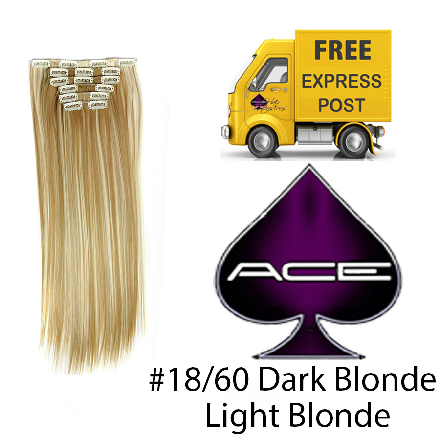 Clip in 17″ #18/60 Dark and Light Blonde 70 gram  Delivered Free Tomorrow if ordered by 2pm Mon-Thurs Auspost Express Zone