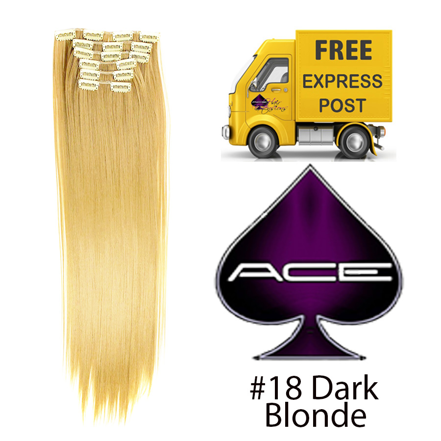 Clip in 20″ Hair Extensions #18 Dark Blonde 100 gram  Delivered Free Tomorrow if ordered by 2pm Mon-Thurs Auspost Express Zone