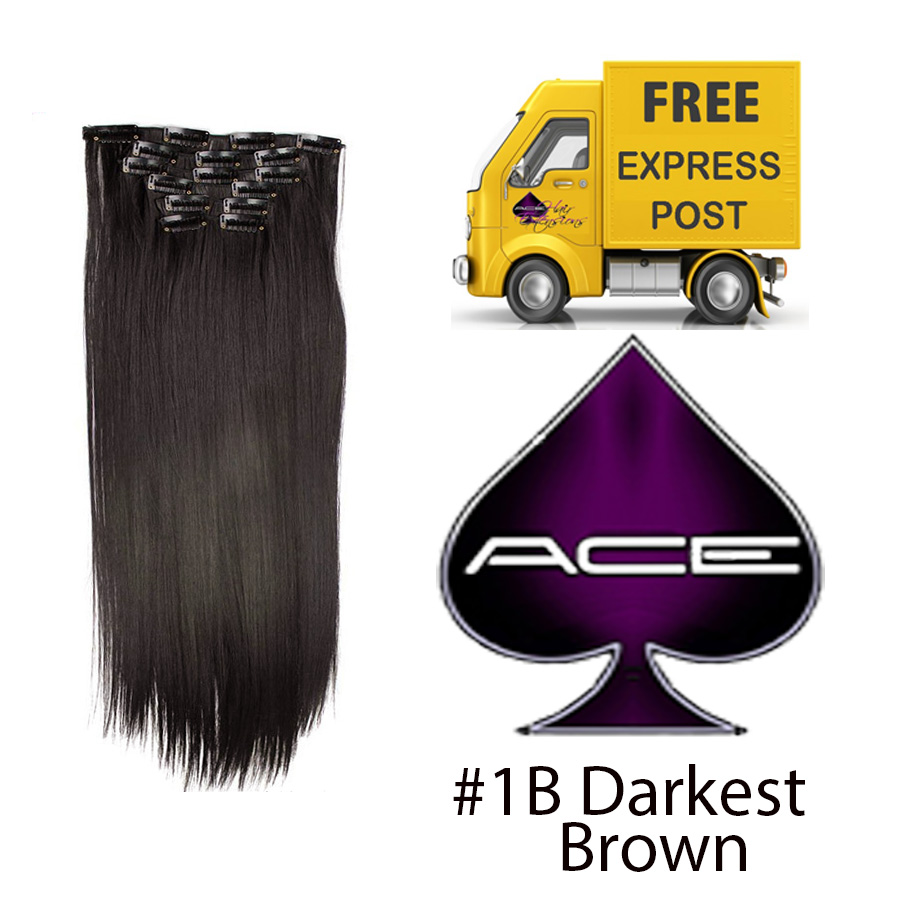 Clip in 17″ #1B Off Black 70 gram  Delivered Free Tomorrow if ordered by 2pm Mon-Thurs Auspost Express Zone
