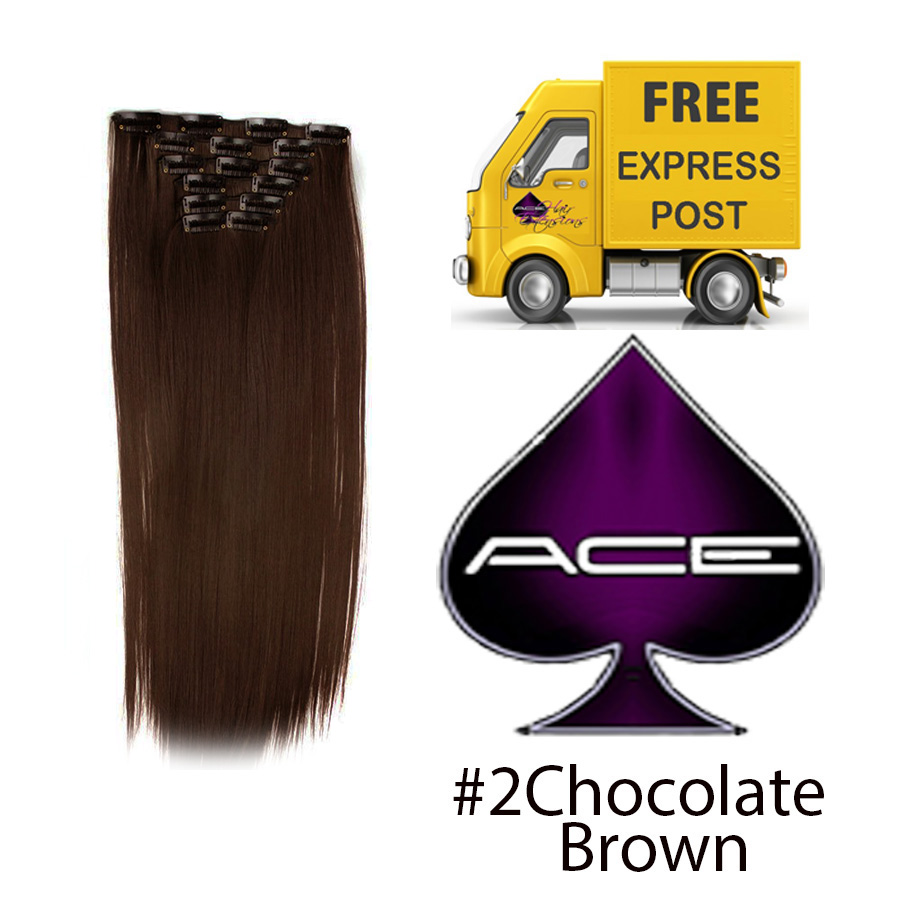 Clip in 17″ #2 70grams Chocolate Brown  Delivered Free Tomorrow if ordered by 2pm Mon-Thurs Auspost Express Zone