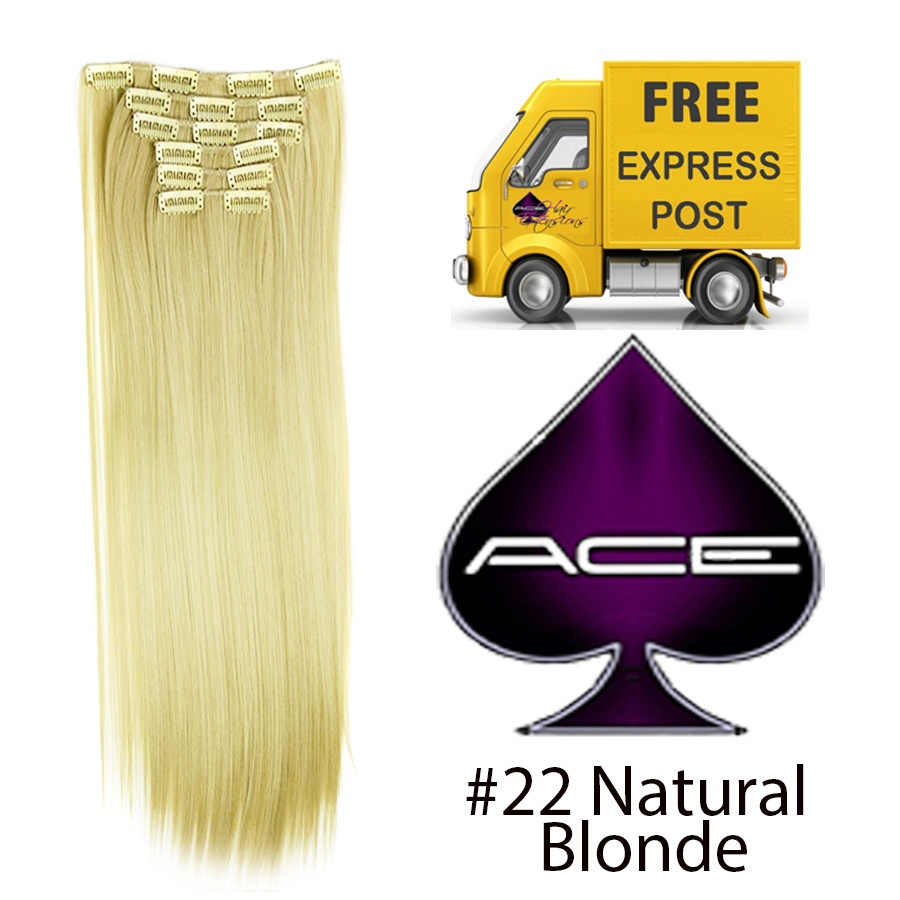 Clip in 20″ #22 Natural Blonde 100 gram  Delivered Free Tomorrow if ordered by 2pm Mon-Thurs Auspost Express Zone