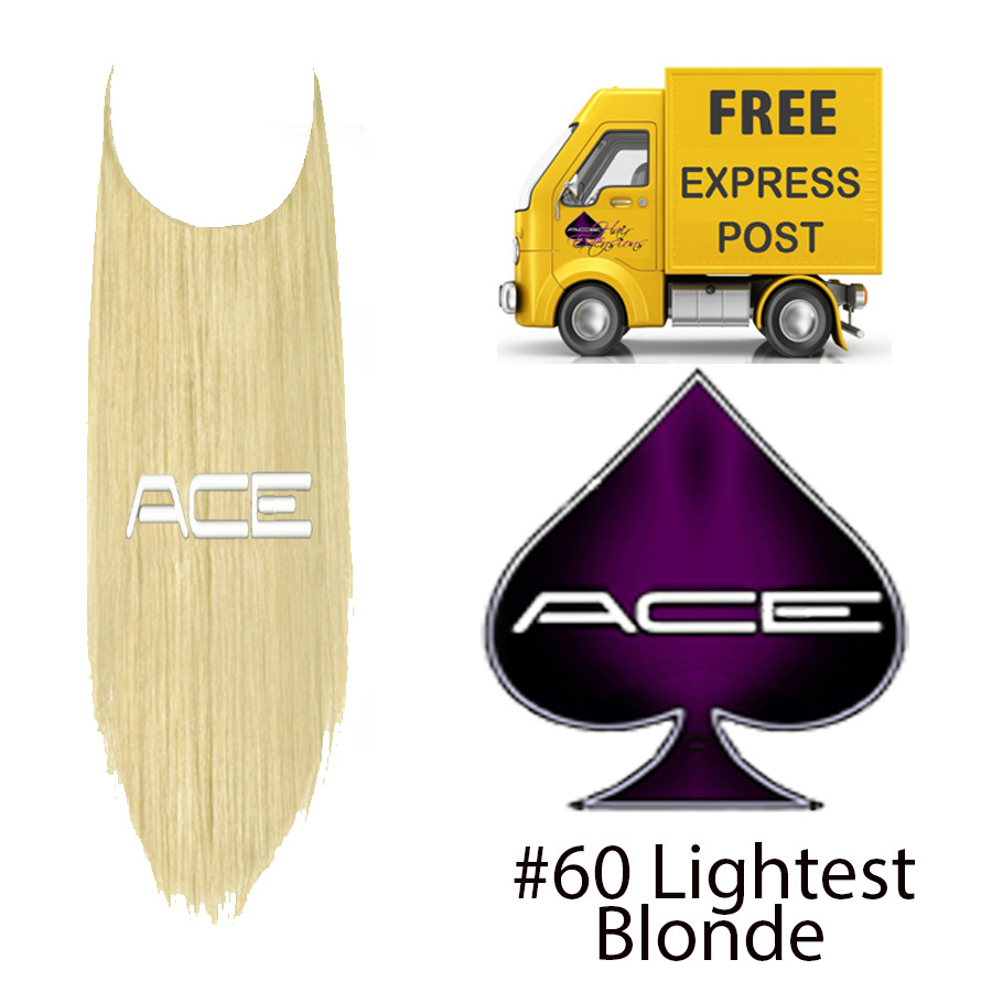 Halo 21″ #60 Lightest Blonde 120 grams Delivered Free Tomorrow if ordered by 2pm Mon-Thurs Auspost Express Zone