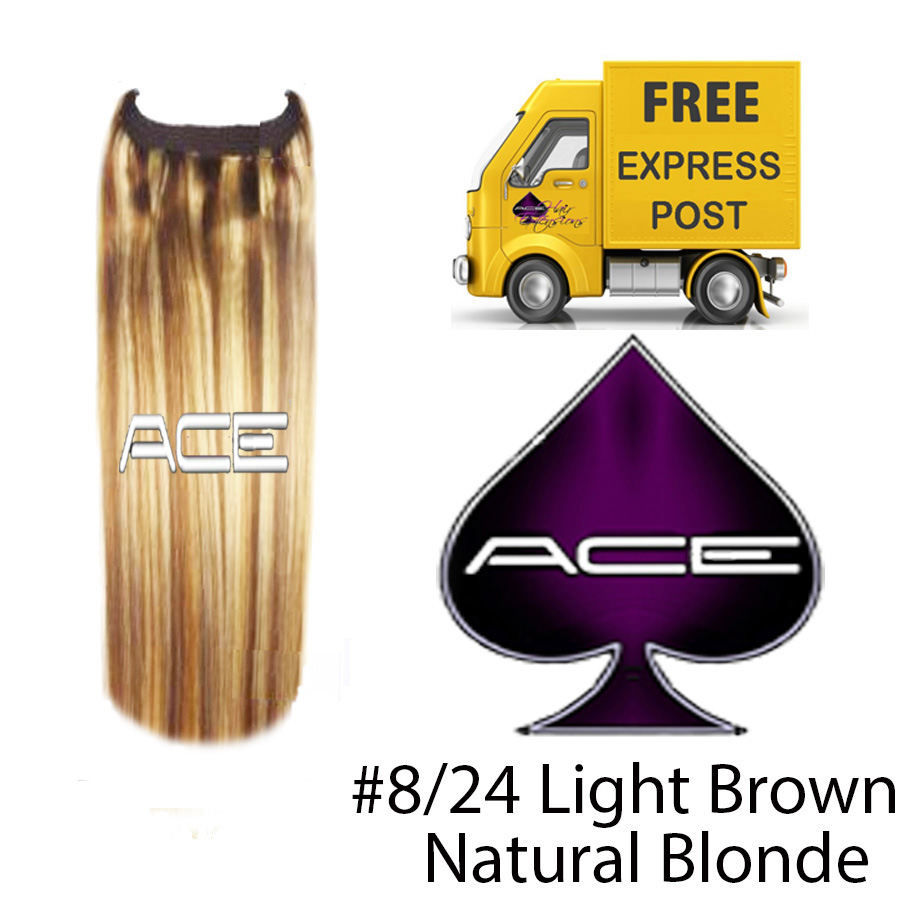 Halo 20″ #8/24 Light Brown/Natural Blonde 100 grams Delivered Free Tomorrow if ordered by 4pm Mon-Thurs Auspost Express Zone