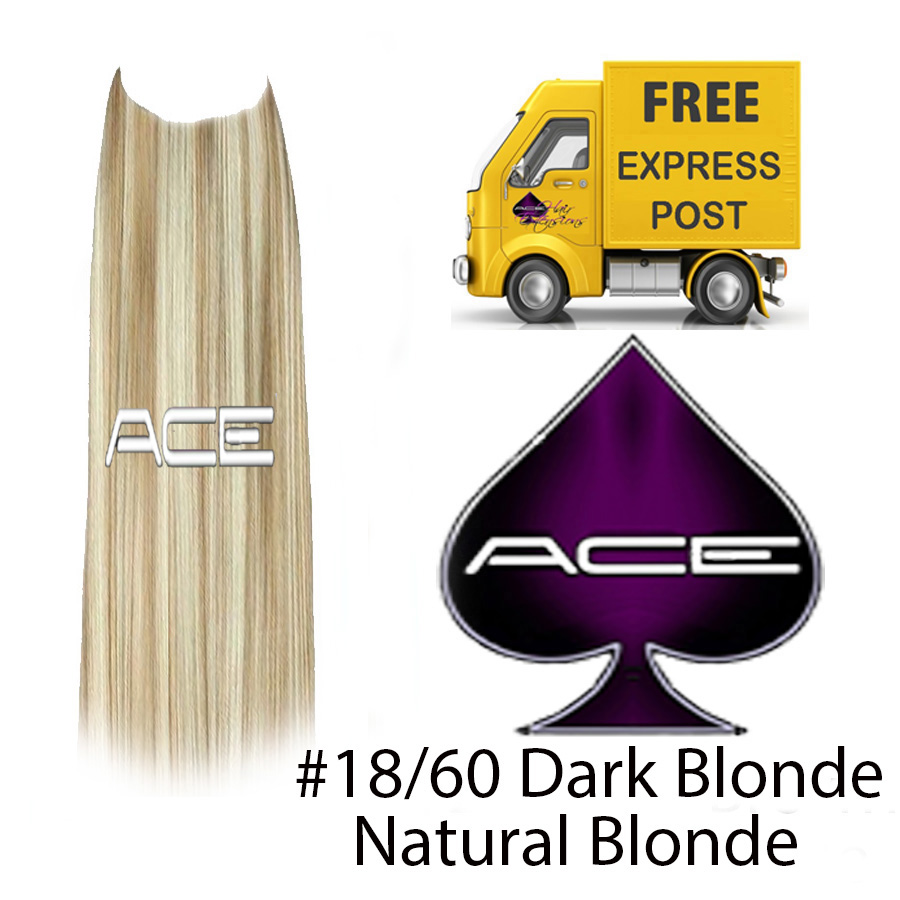 Halo 20″ #18/60 Dark Blonde/Light Blonde 100 grams Delivered Free Tomorrow if ordered by 4pm Mon-Thurs Auspost Express Zone