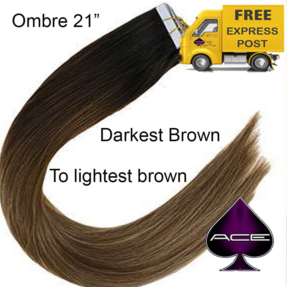 Tape 21″ Ombre #1B Off Black to Light Brown. Delivered Free Tomorrow if ordered by 4pm Mon-Thurs Auspost Express Zone