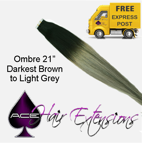 Tape 21″ Ombre #1B Off Black to Light Grey 40 pieces 100 grams  Delivered Free Tomorrow if ordered by 4pm Mon-Thurs Auspost Express Zone